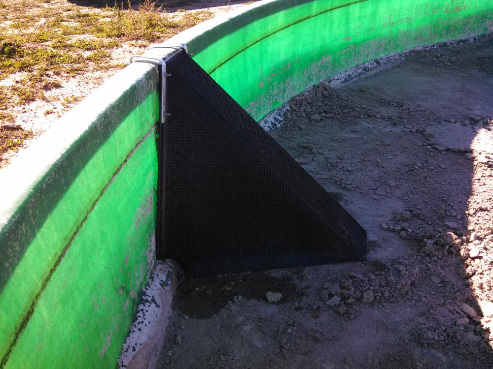 One Escape Ramp In Empty Water Tank