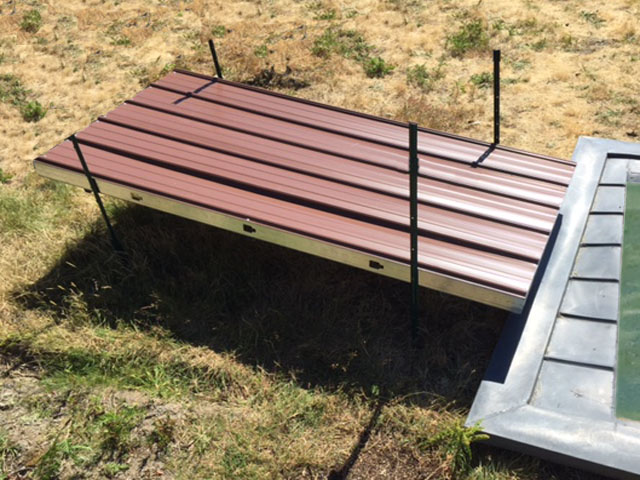 Simple Collection Metal Roof For Guzzler