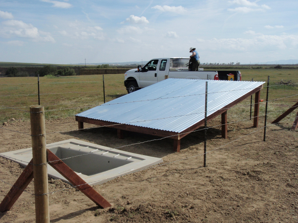Guzzler with Open Access Collection Roof for Upland Bird