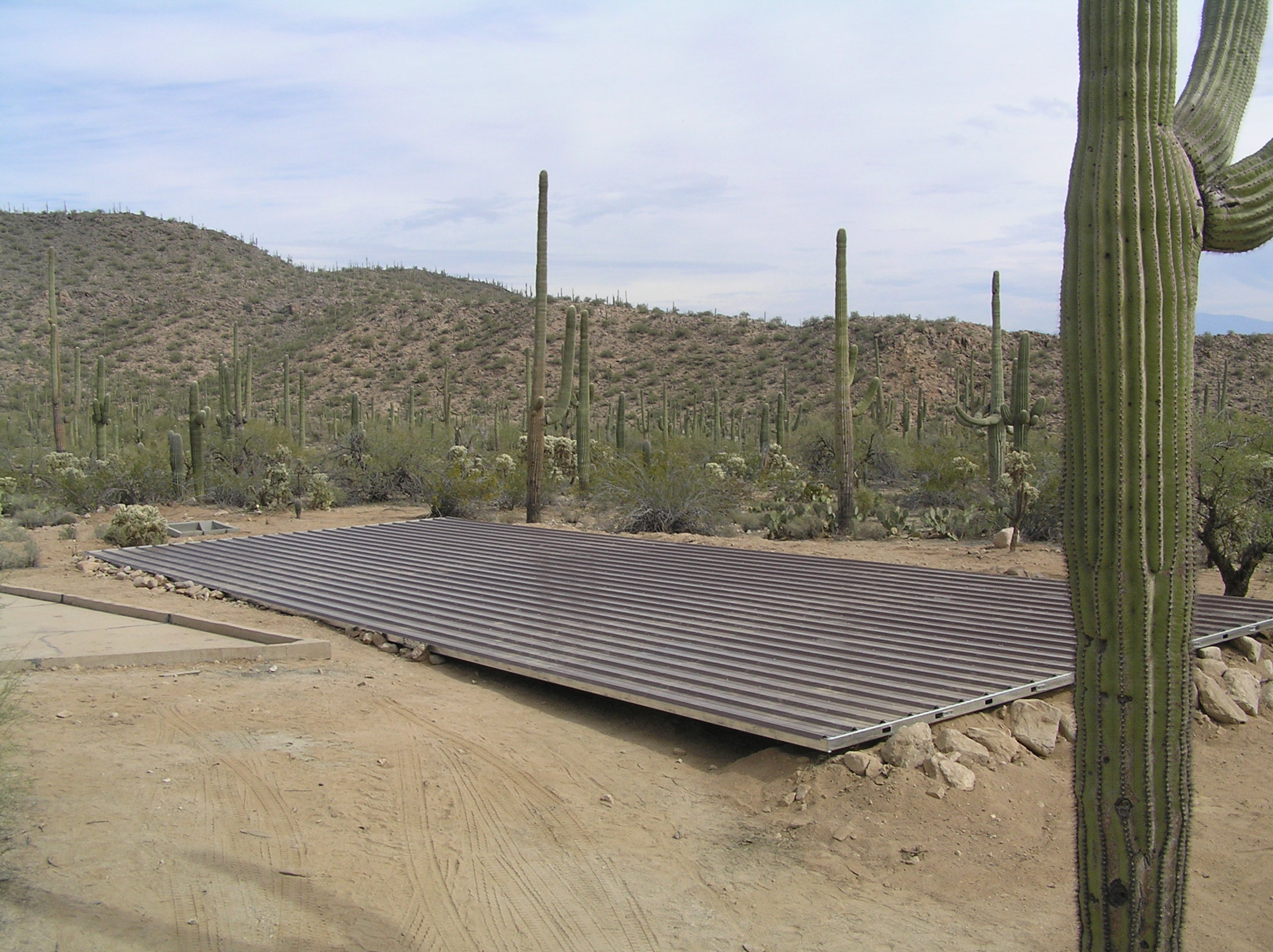 120 x 24 ft Collection Roof for Wildlife Guzzler System