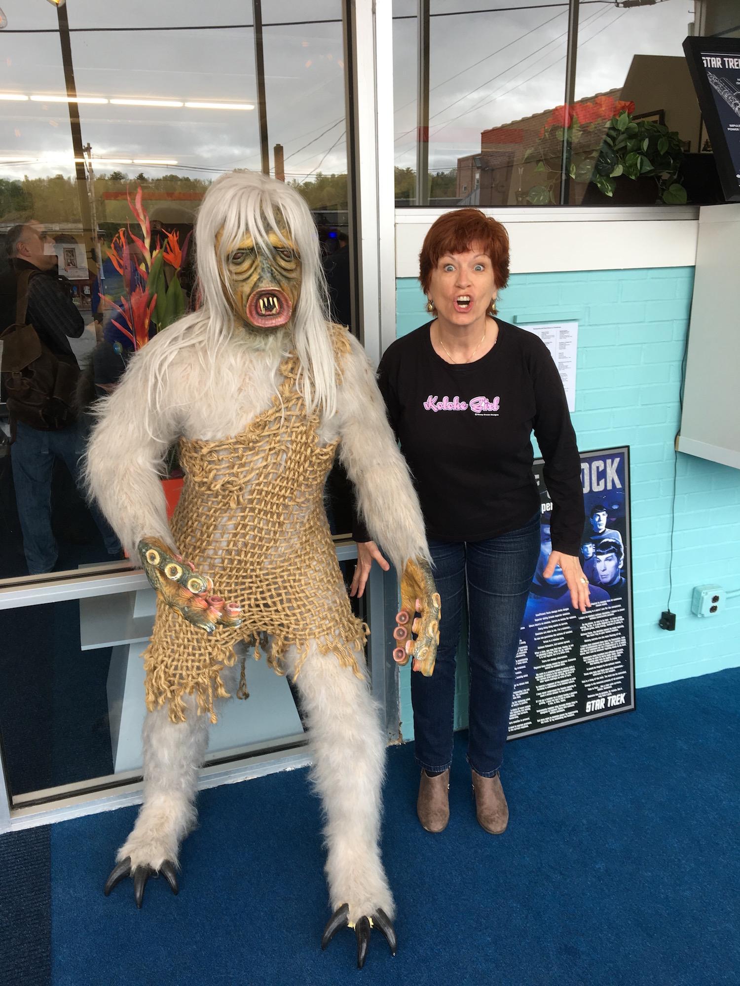 Karen Ragan-George Doing Her Best M-113 Creature Impersonation ©2017 David R. George III