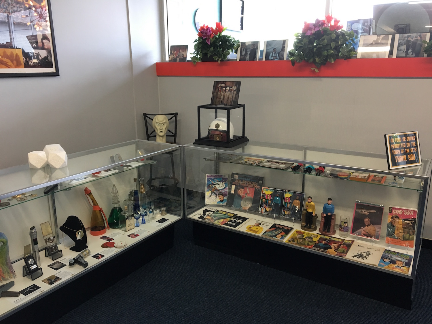 Display Cases of Models and Props, Both ©2017 David R. George III