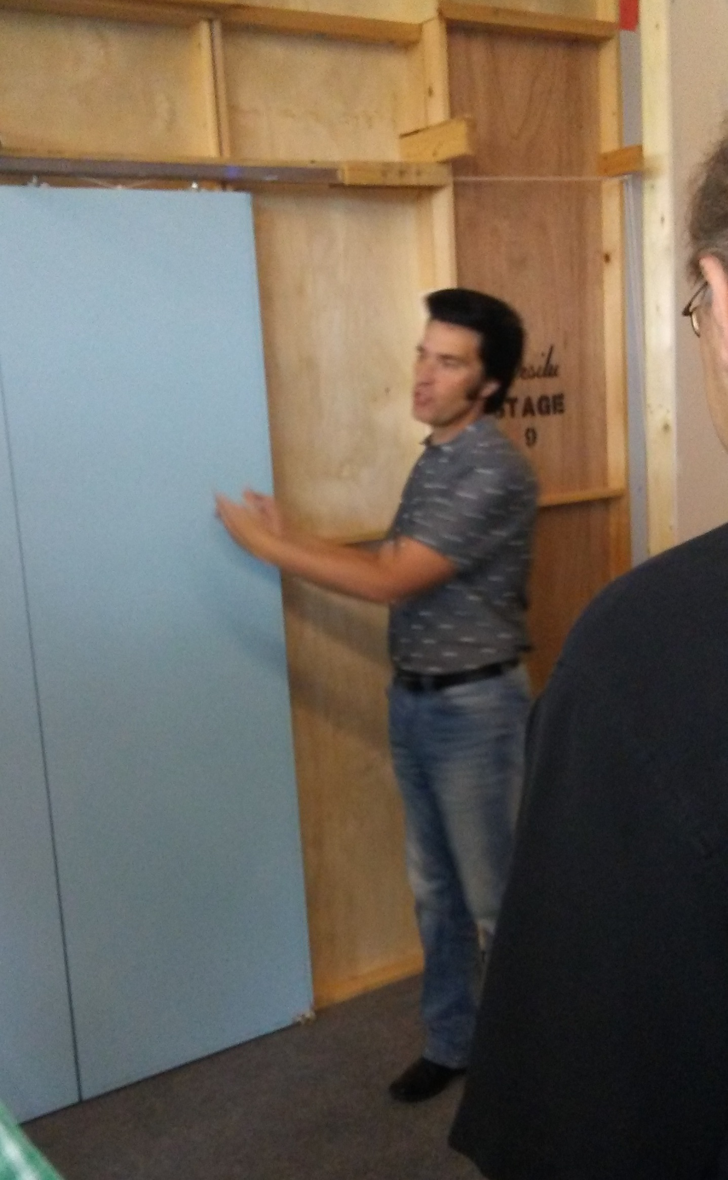 James Cawley about to open the doors to his  Star Trek sets ©2017 William Leisner