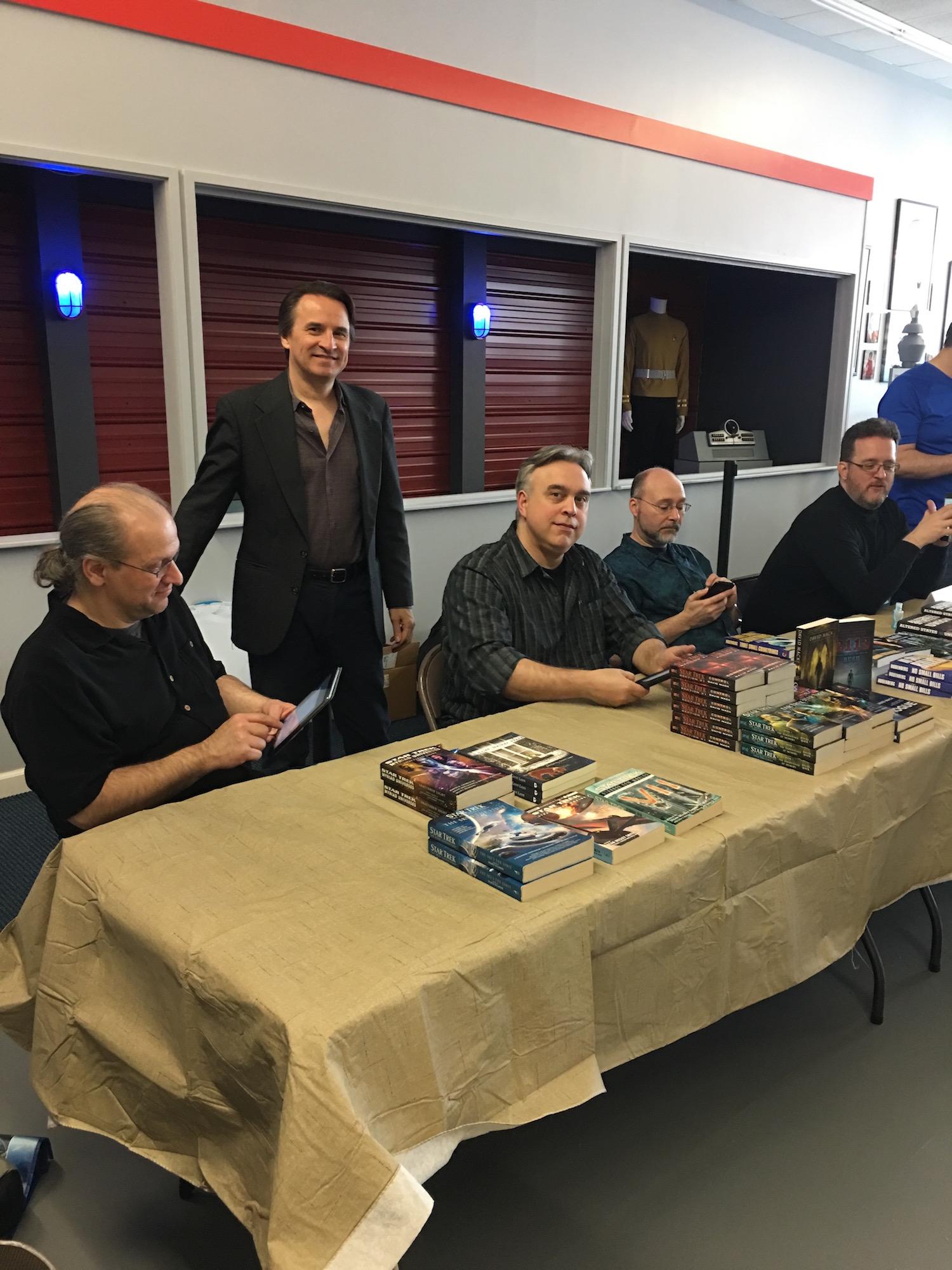 From Left to Right: Scott Pearson, DRG III, David Mack, Aaron Rosenberg, and Glenn Hauman ©2017 Karen Ragan-George