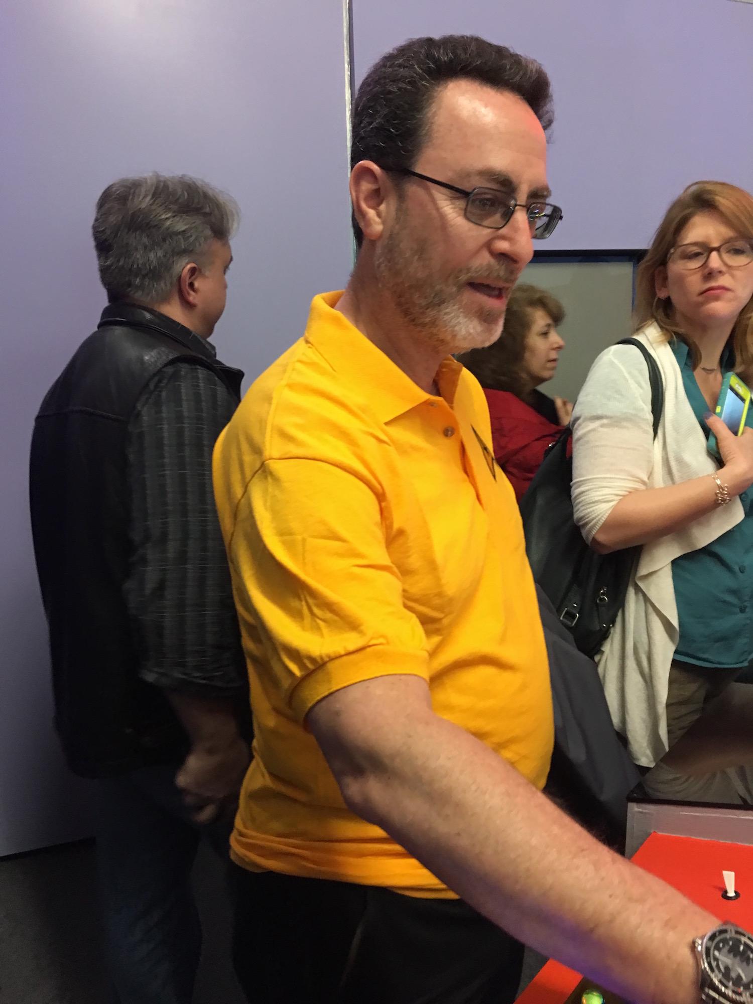 Bob Greenberger at Transporter Console ©2017 Karen Ragan-George