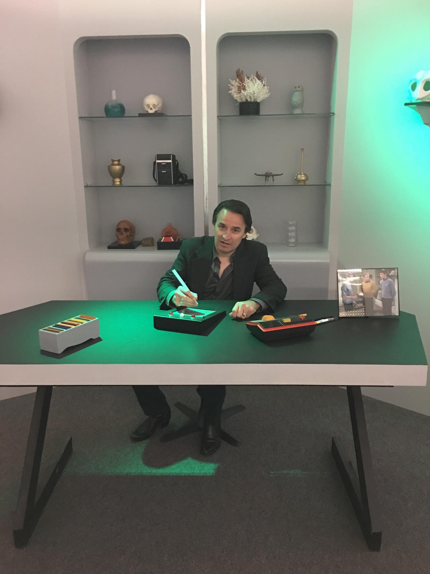 DRG III at Doctor McCoy's Desk ©2017 Karen Ragan-George