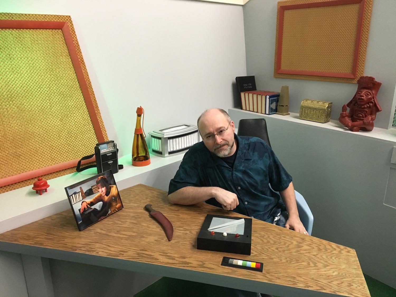 Aaron Rosenberg at Captain Kirk's Desk ©2017 David R. George III