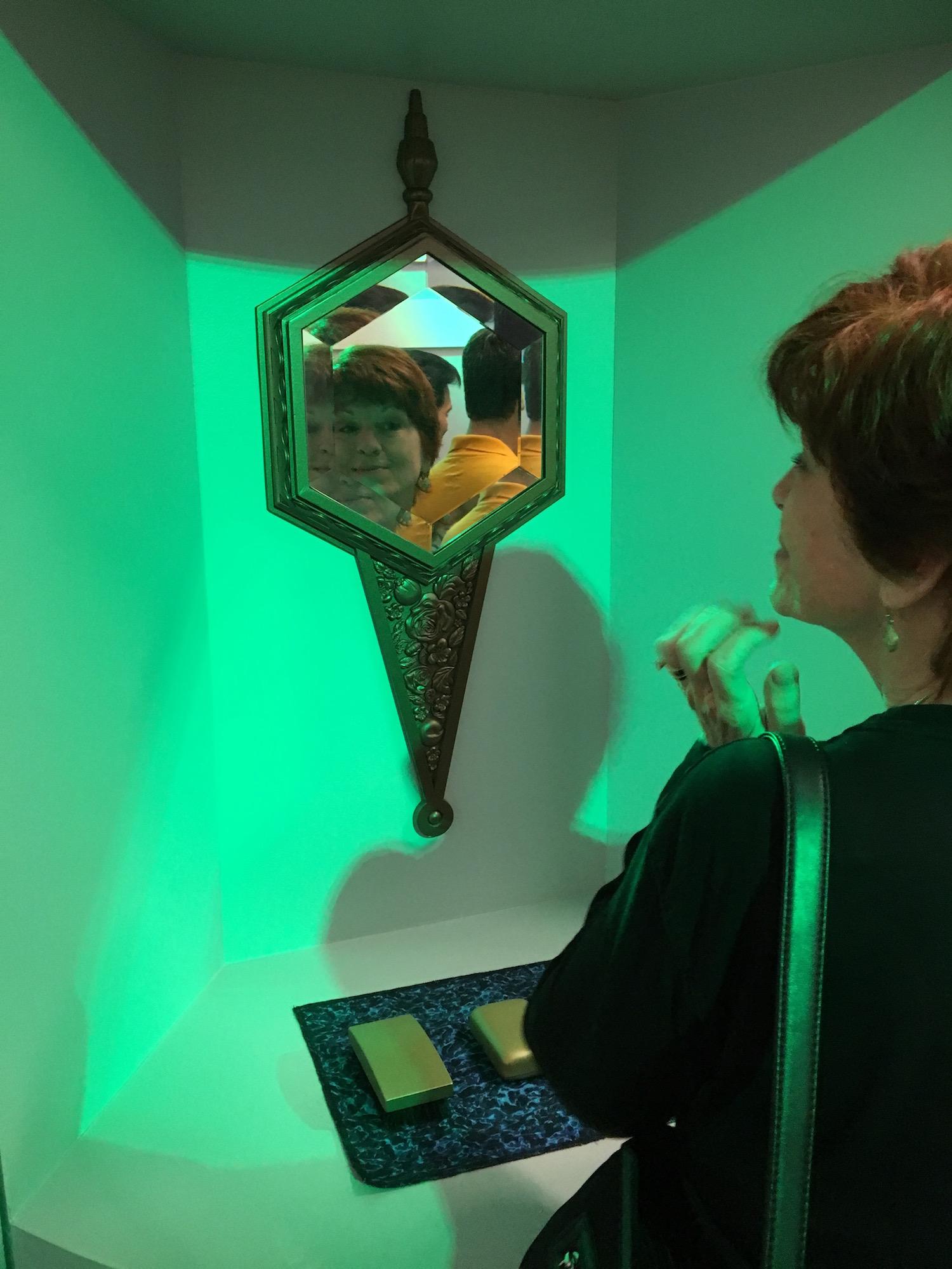 Karen Ragan-George Gazing into Captain Kirk's Mirror ©2017 David R. George III