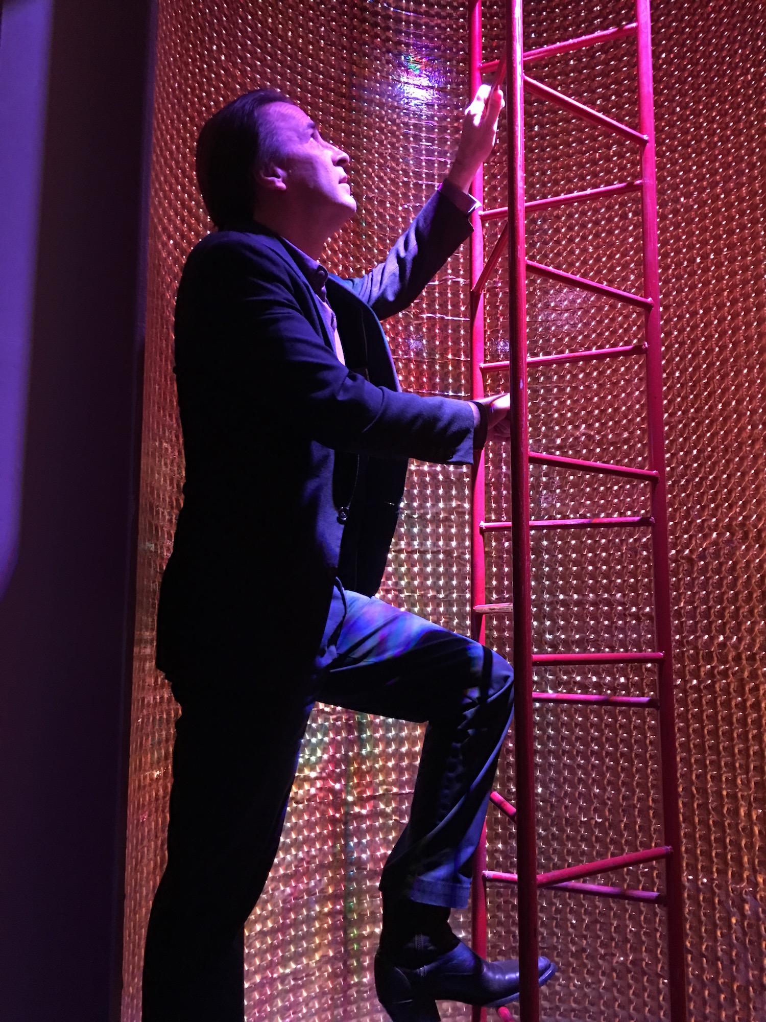 DRG III Climbing to the Next Deck ©2017 Karen Ragan-George
