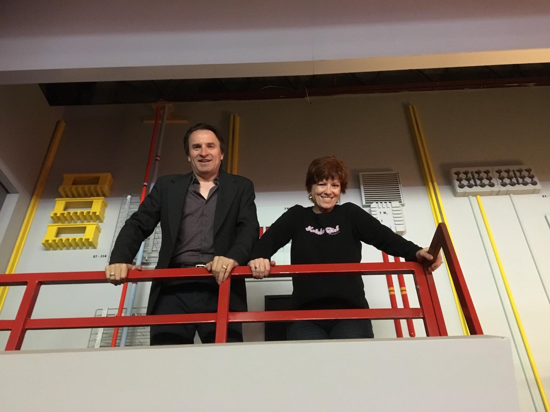 DRG III and Karen Ragan-George on Engineering's Second Level ©2017 Karen Ragan-George