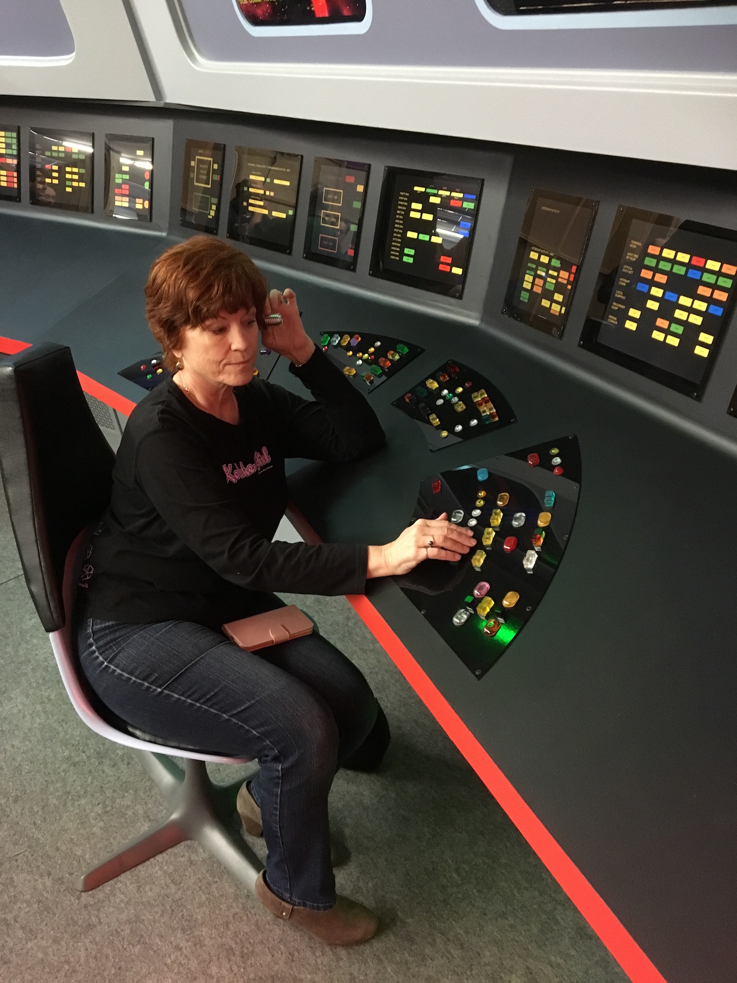 Karen Ragan-George at the Communications Station ©2017 David R. George III