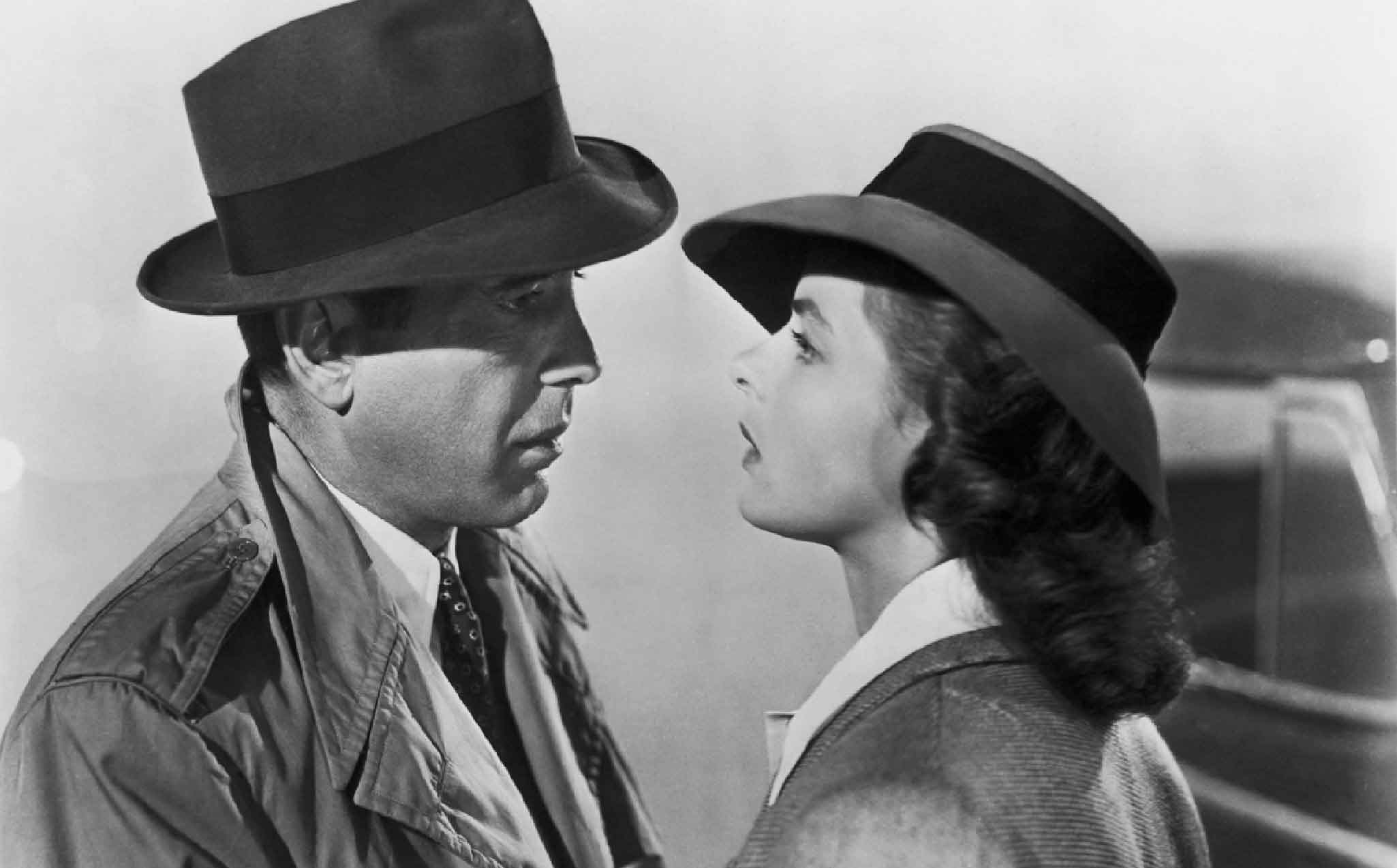 Humphrey Bogart and Ingrid Bergman in  Casablanca