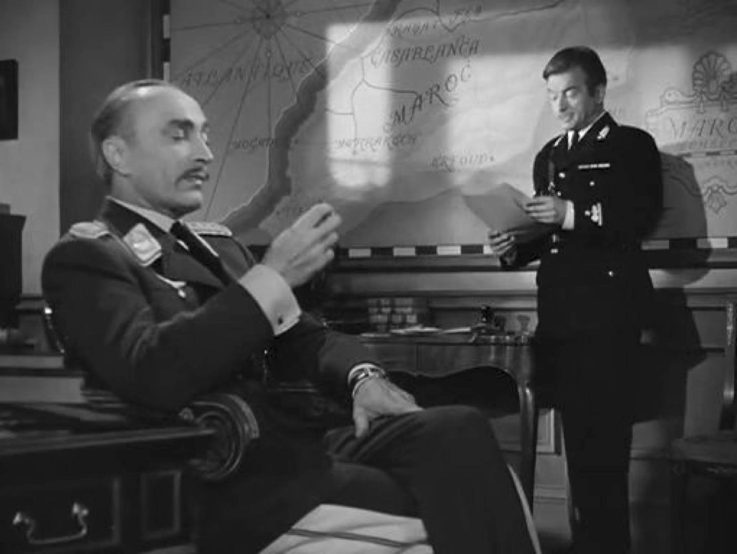 Conrad Veidt and Claude Rains in  Casblanca