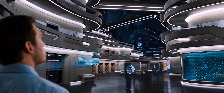 Chris Pratt explores the starship  Avalon  in  Passengers