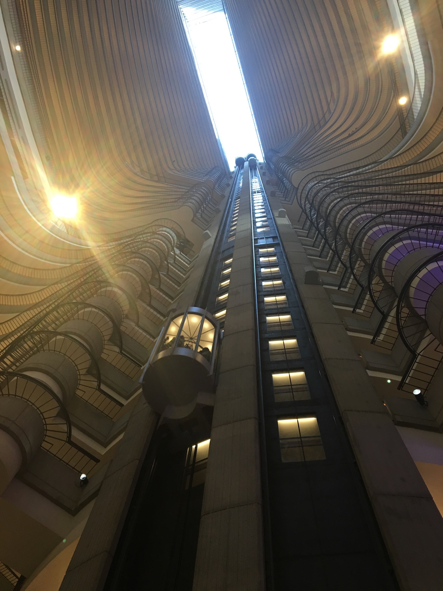 Inside the futuristic Atlanta Marriott Marquis Hotel