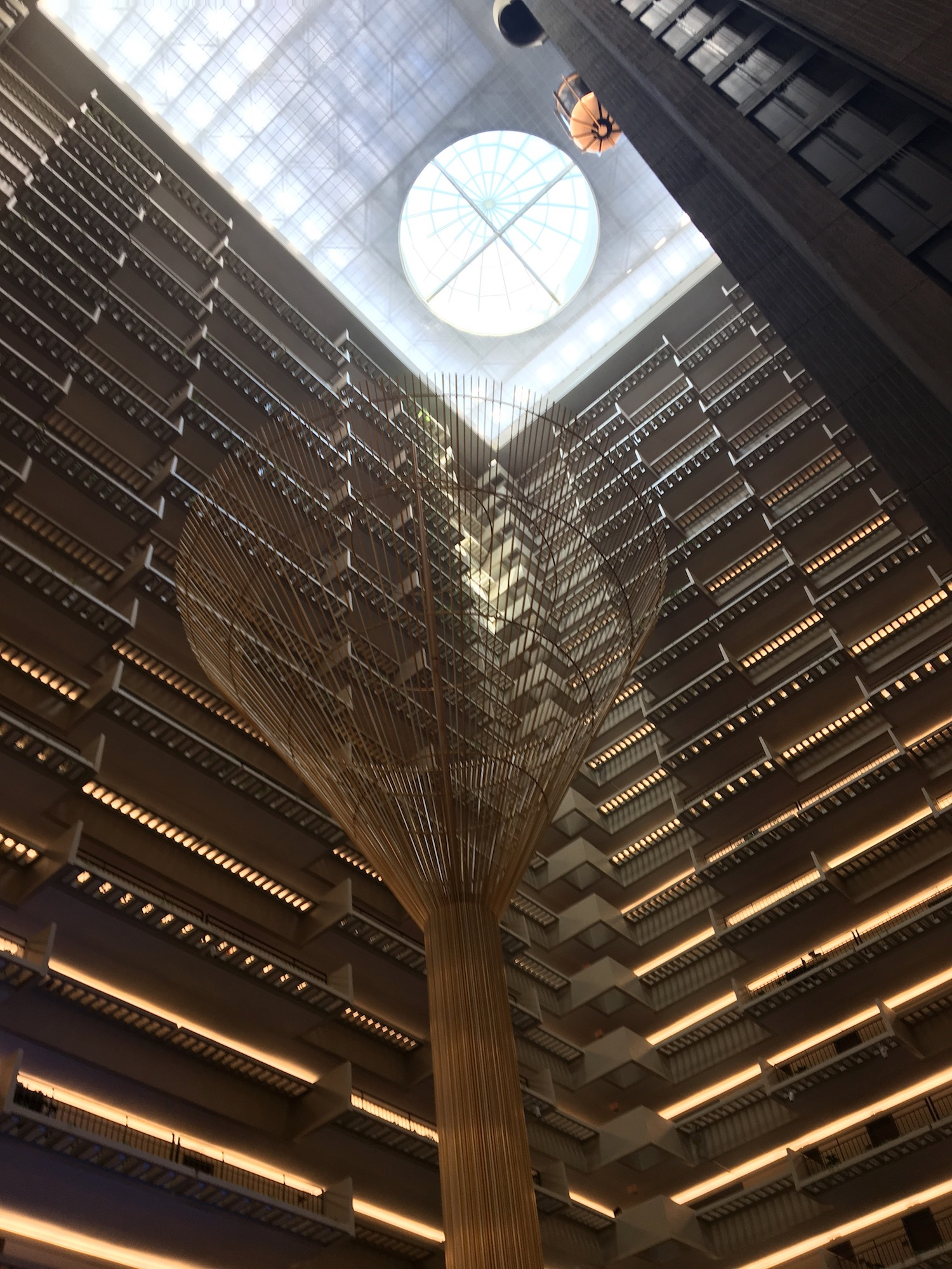 Inside the ultramodern Hyatt Regency Atlanta