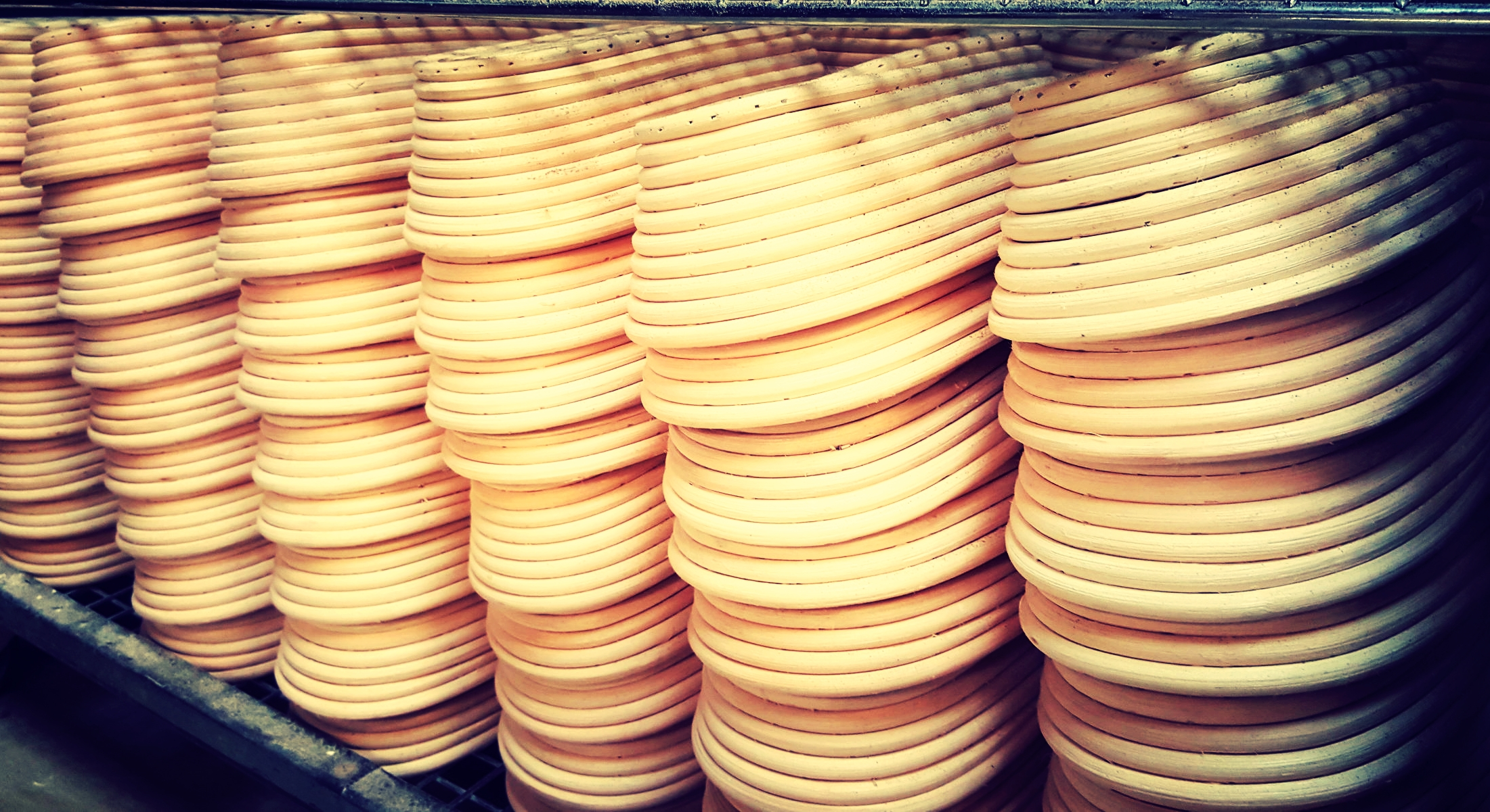 Some of our long proving baskets For sourdoughs