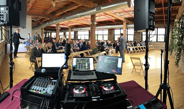 This was taken yesterday just when guests began arriving for Sarah and Josh's #BestDayEver at @thehiveonhubbard -  Pretty epic night. So much love in the room! Congrats again you guys!