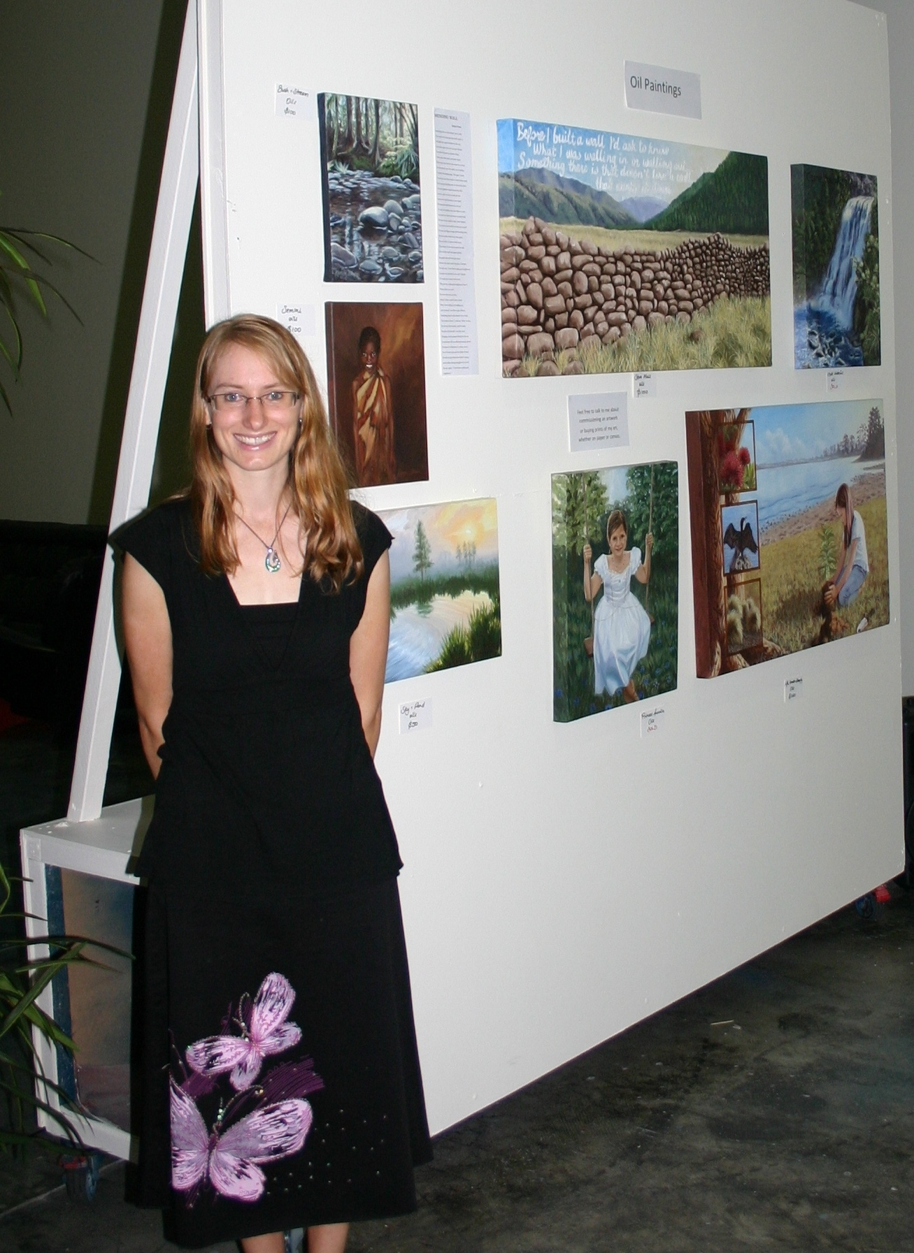 First solo exhibition after studying with Graham
