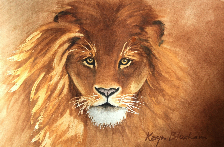 Aslan  WatercolourFramed