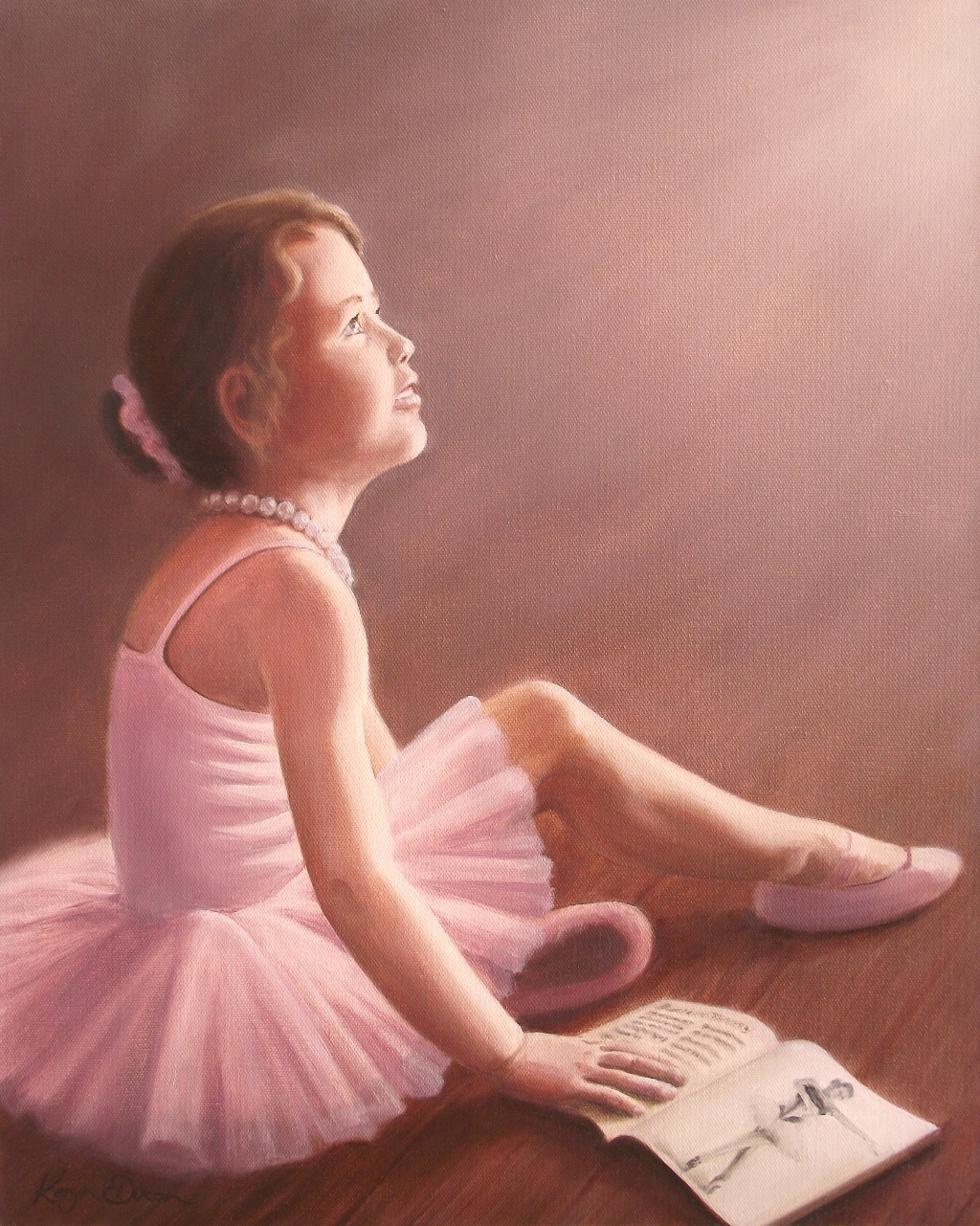 Ballerina  Oils on Stretched canvas