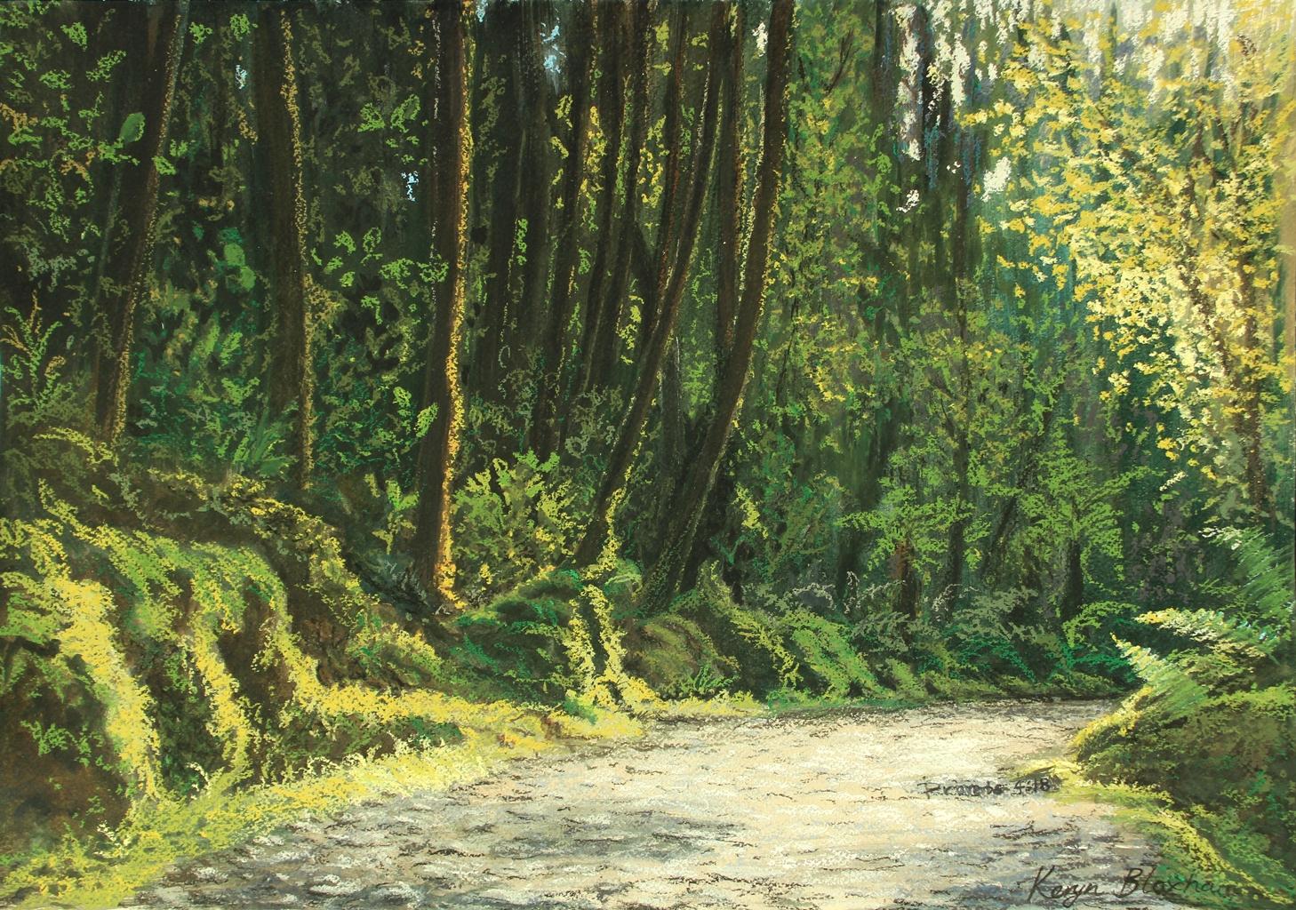 Matheson Bush. Pastel and Watercolour. Original $600