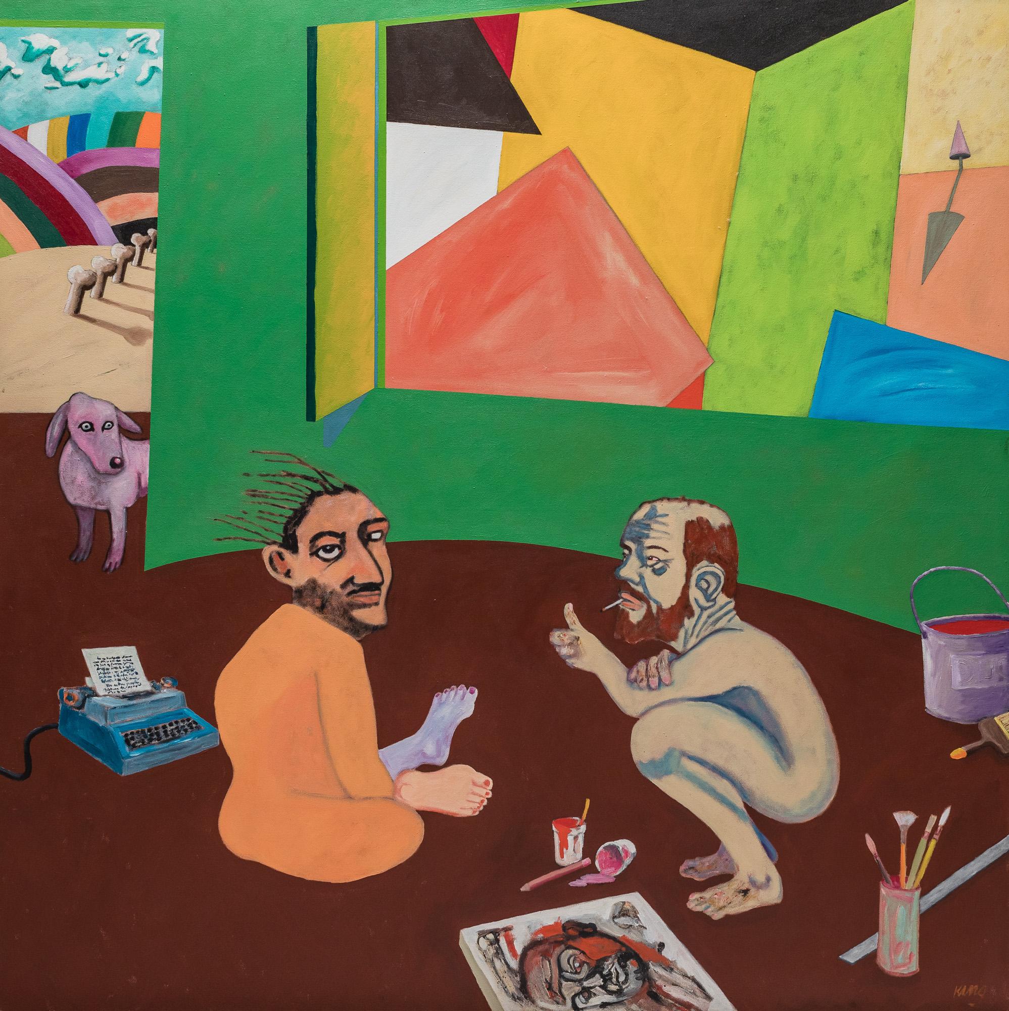 Artist Paints Critic