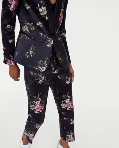 Floral Blazer+Pants