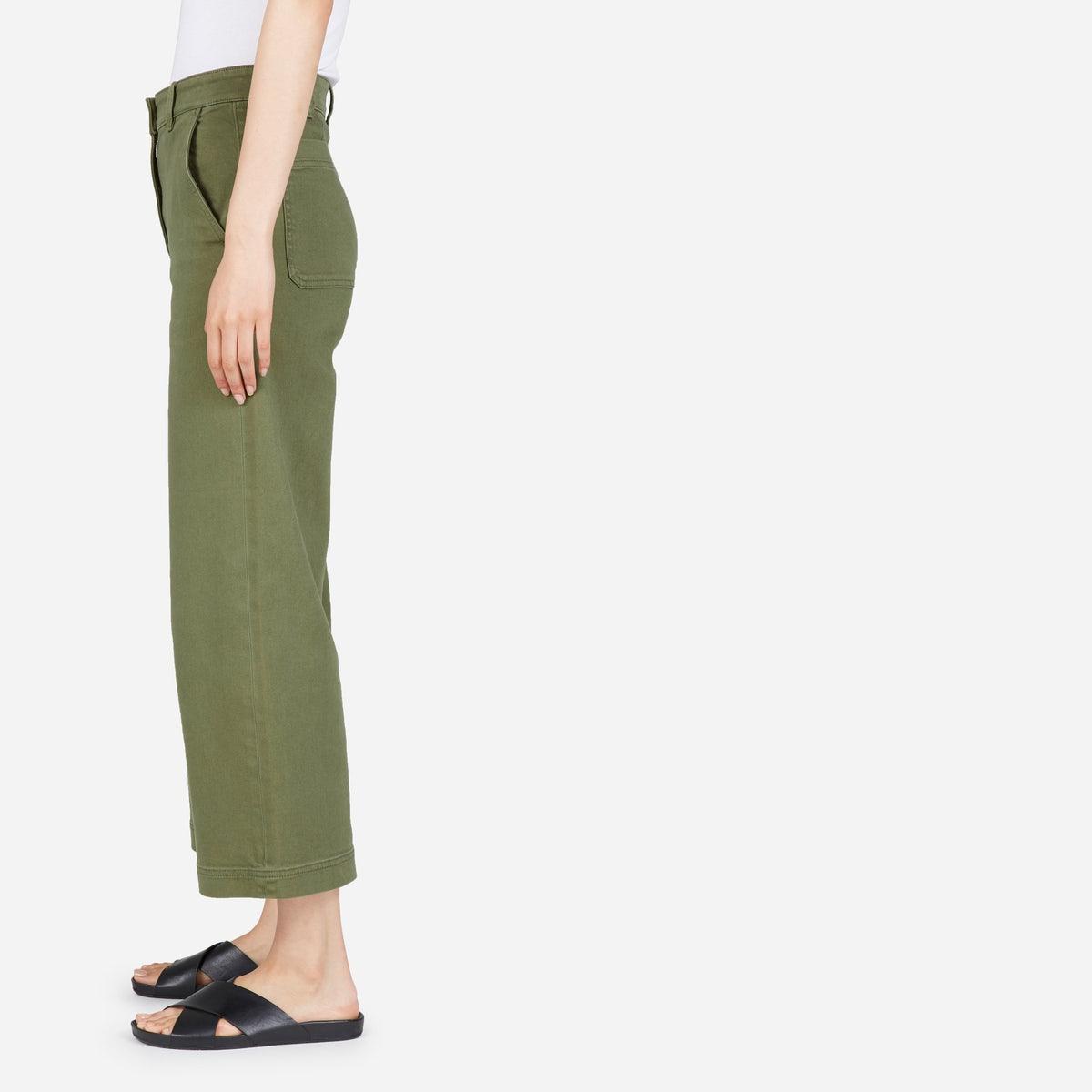 Wide Leg Crop Pants, multiple colors