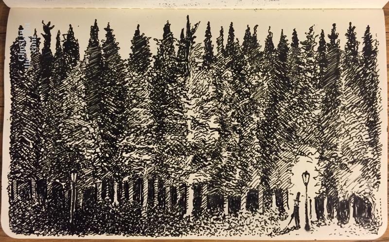 inktober11-woods
