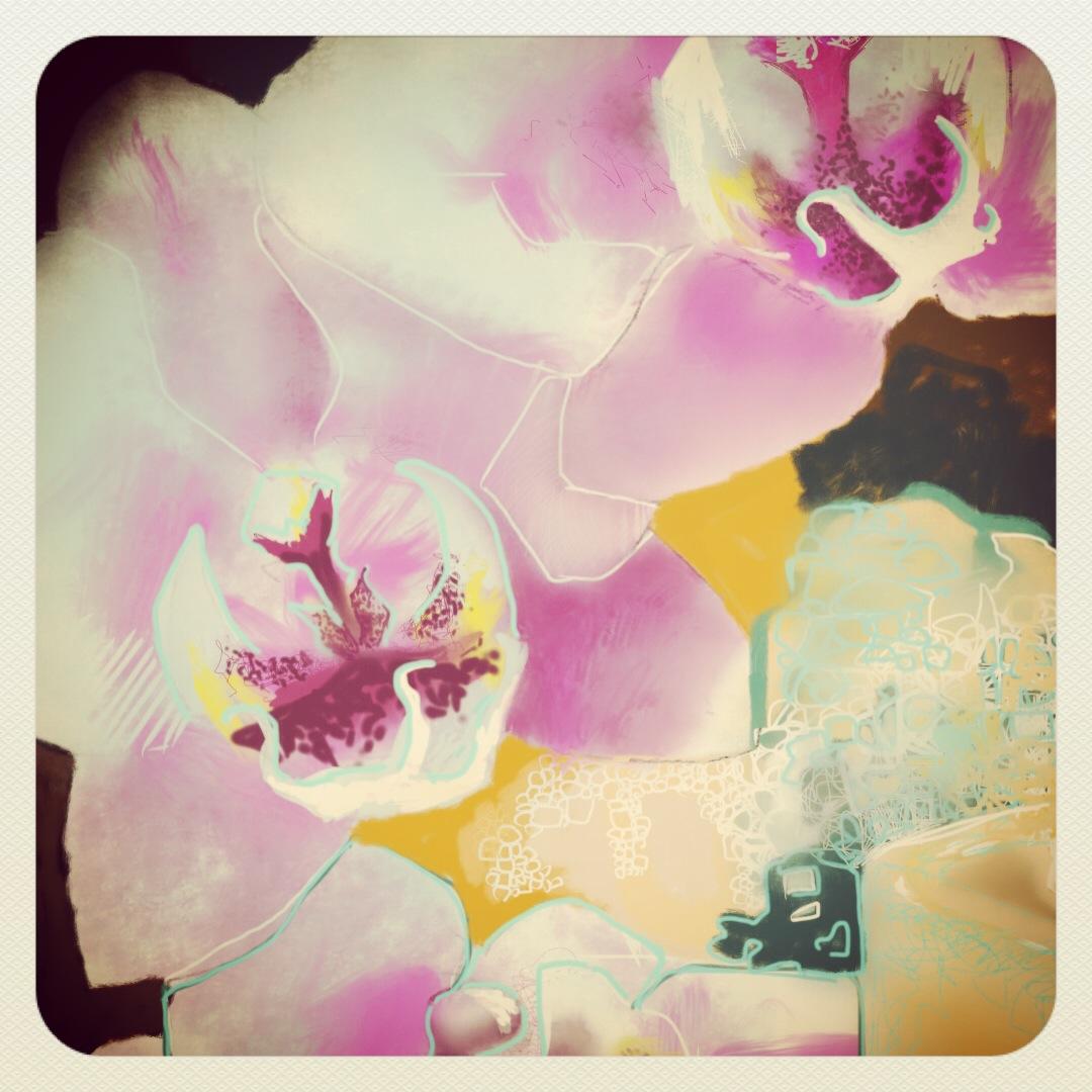 Framed Ghost Flowers
