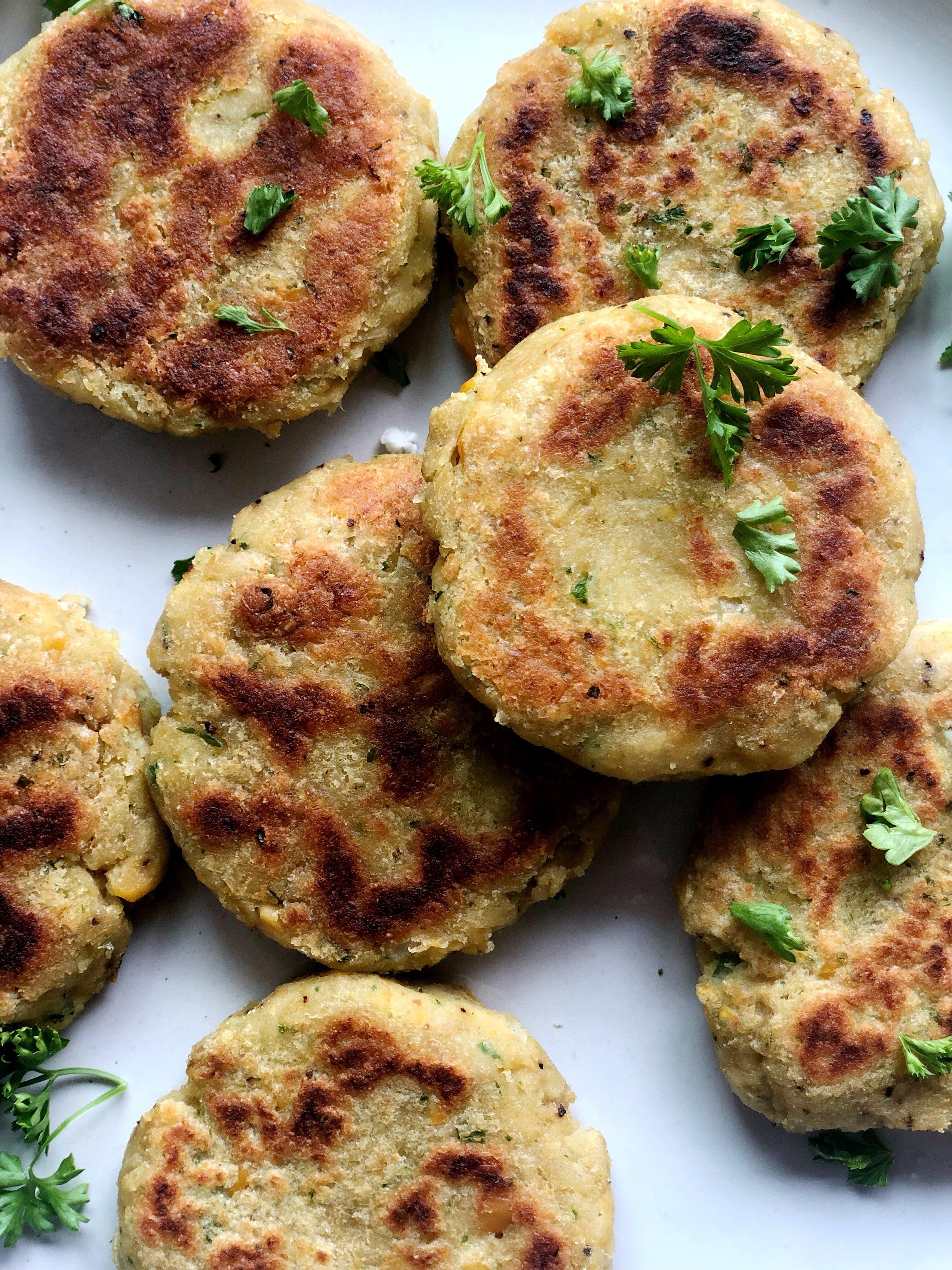 Cauliflower Chickpea Fritters