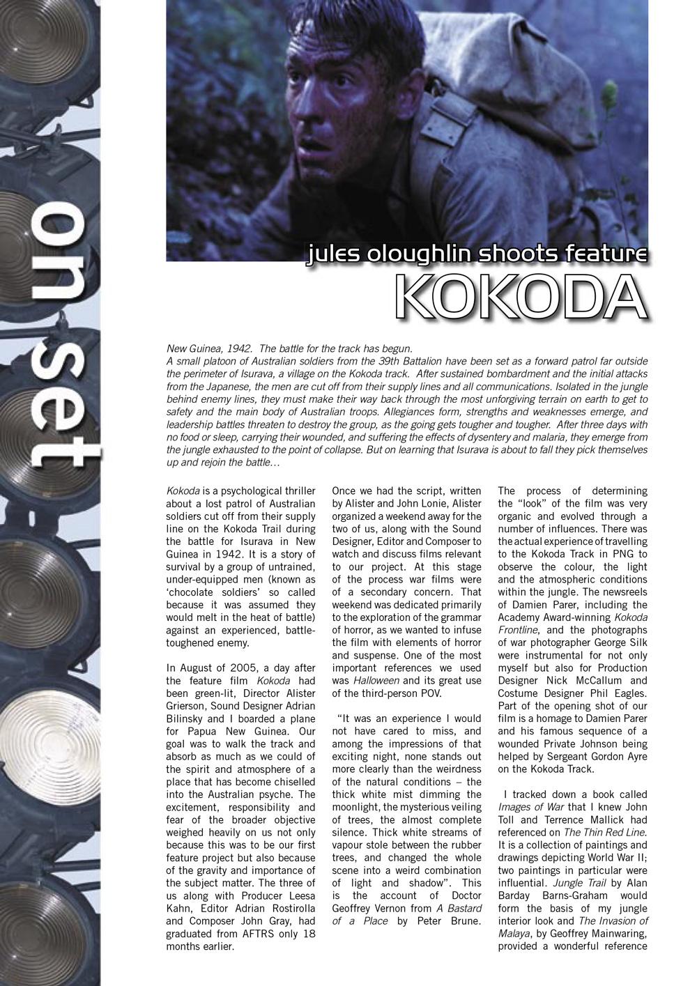 Kokoda – Australian Cinematographer