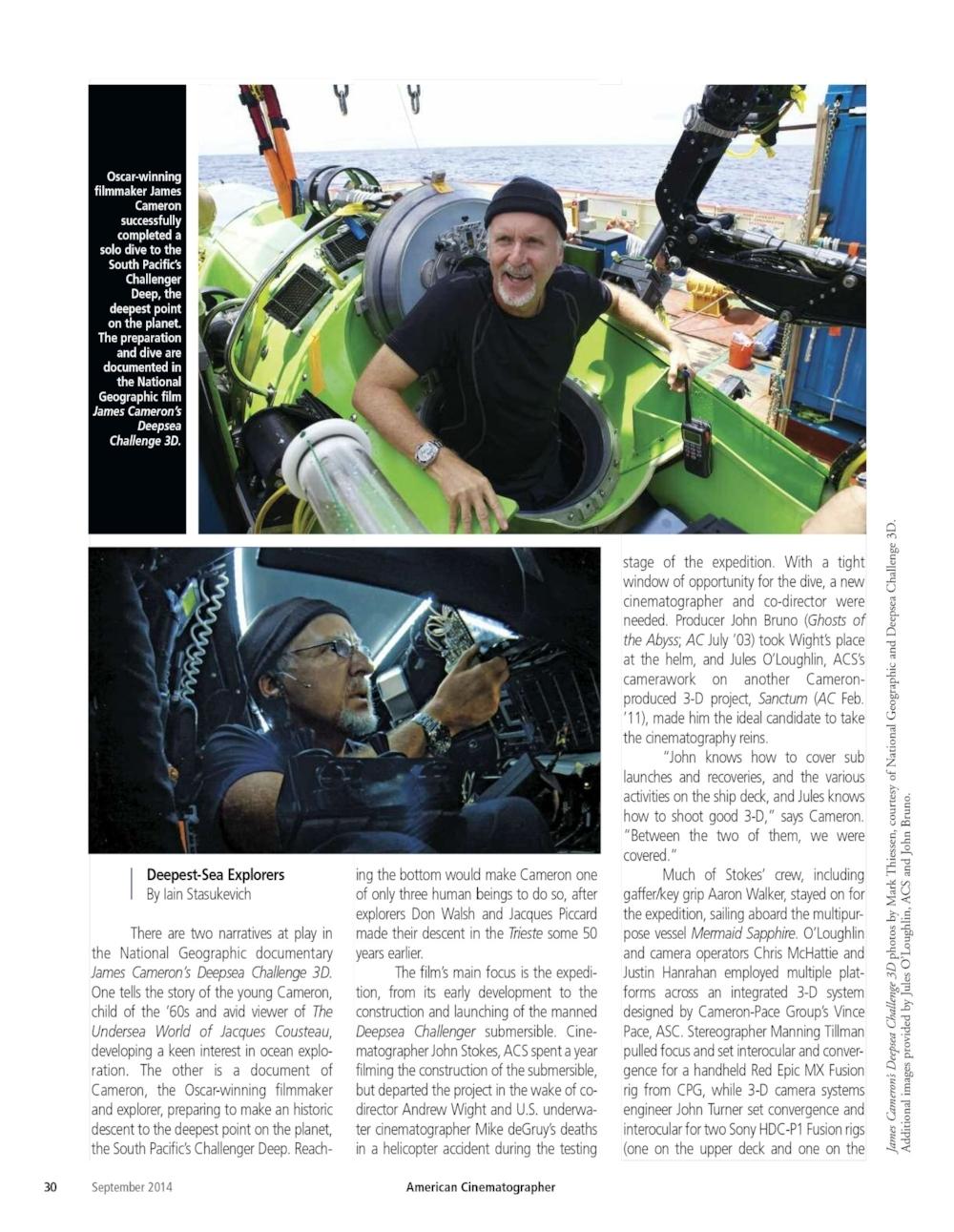 Deepsea Challenger – American Cinematographer