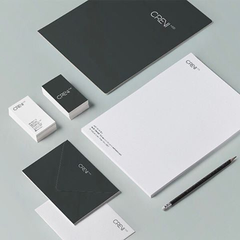 Brand identity for @creviandco we completed a while back. Love the simplicity of this modern identity ➖