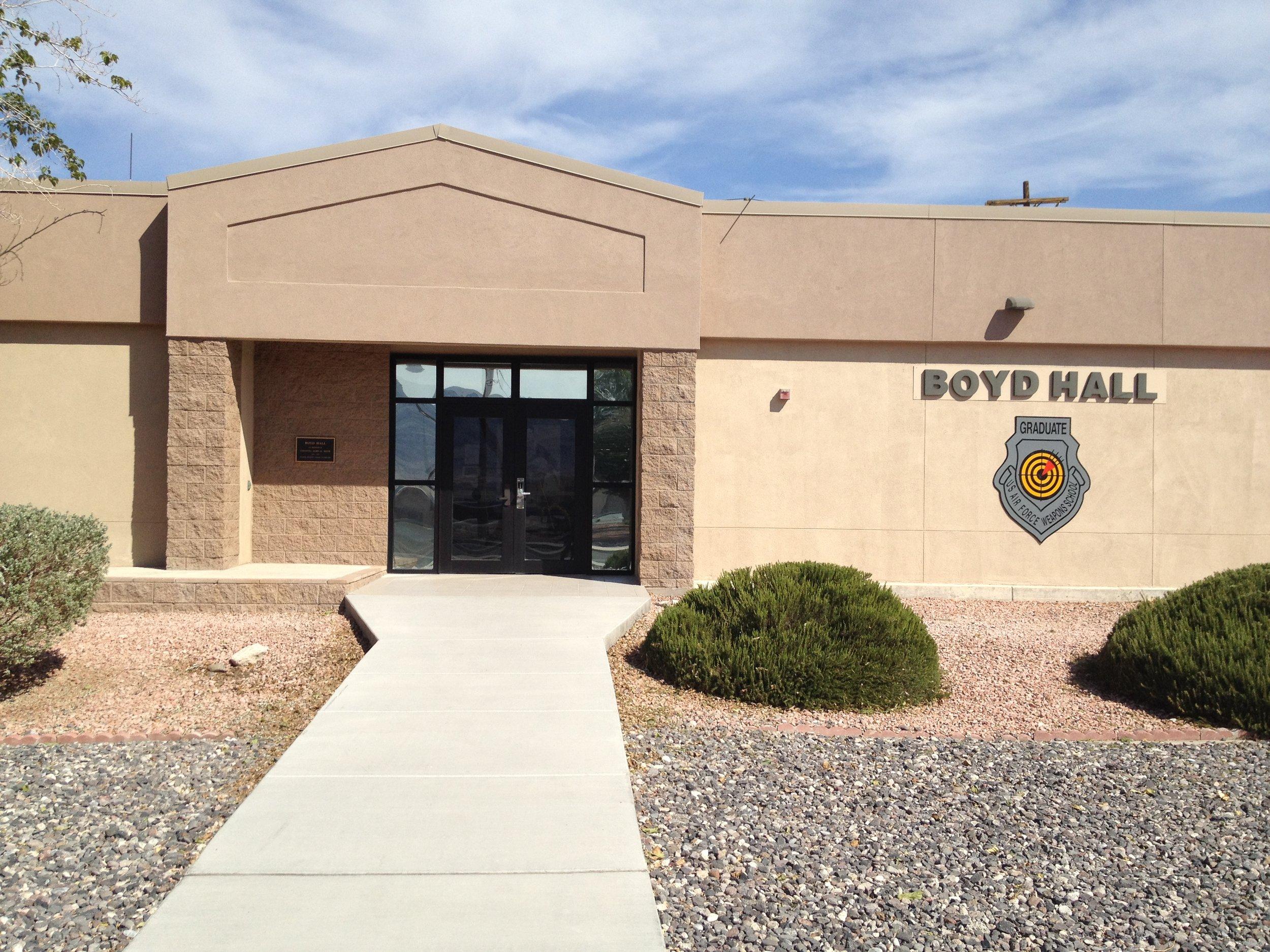 Boyd Hall at Nellis Air Force Base, Nevada