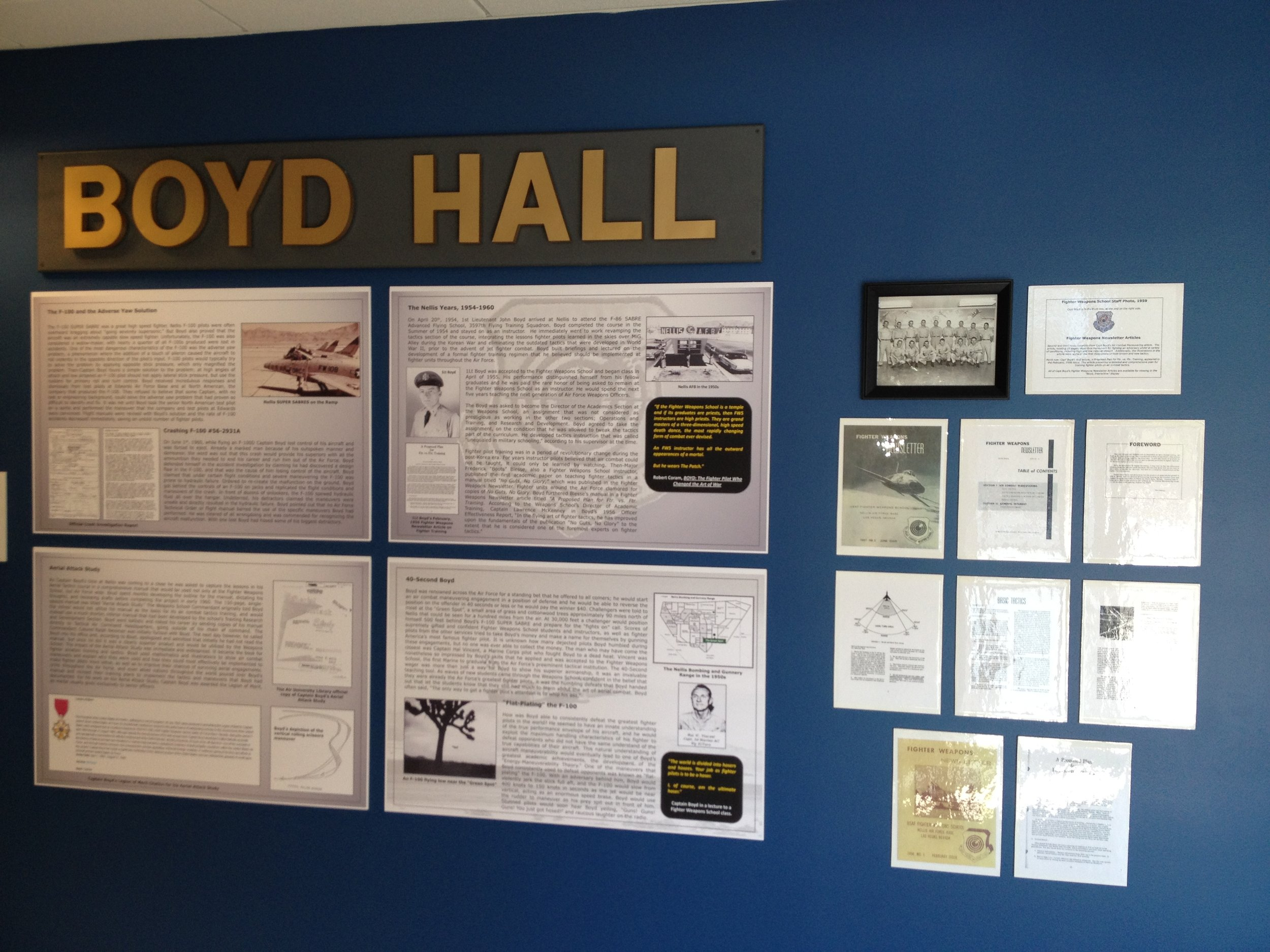 Exhibits from Boyd's time at Nellis