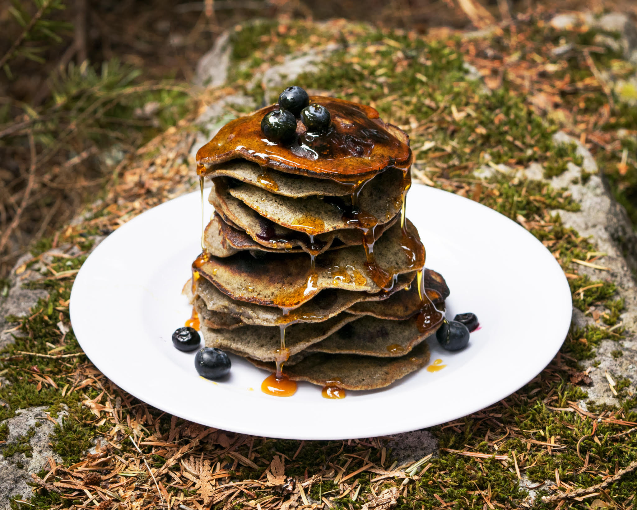 Blueberry Buckwheat Pancakes Megan Beck Nutrition