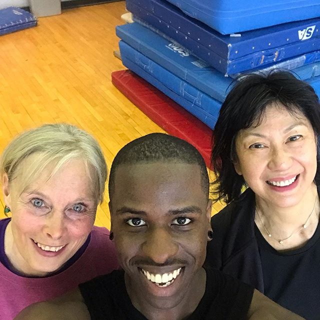 Hey everyone meet Karen and Lisa!  They've been with me since the beginning of Bounce Fit Cardio.  From Karen coming back to class after recovering from a broken hip, to Lisa continually coming to class even after returning to the workforce these two are the epitome of dedication and grit.  I love them dearly! 😍 🤩 😍 #groupfitnessinstructor #groupfitness #batteryparkcity #trampoline