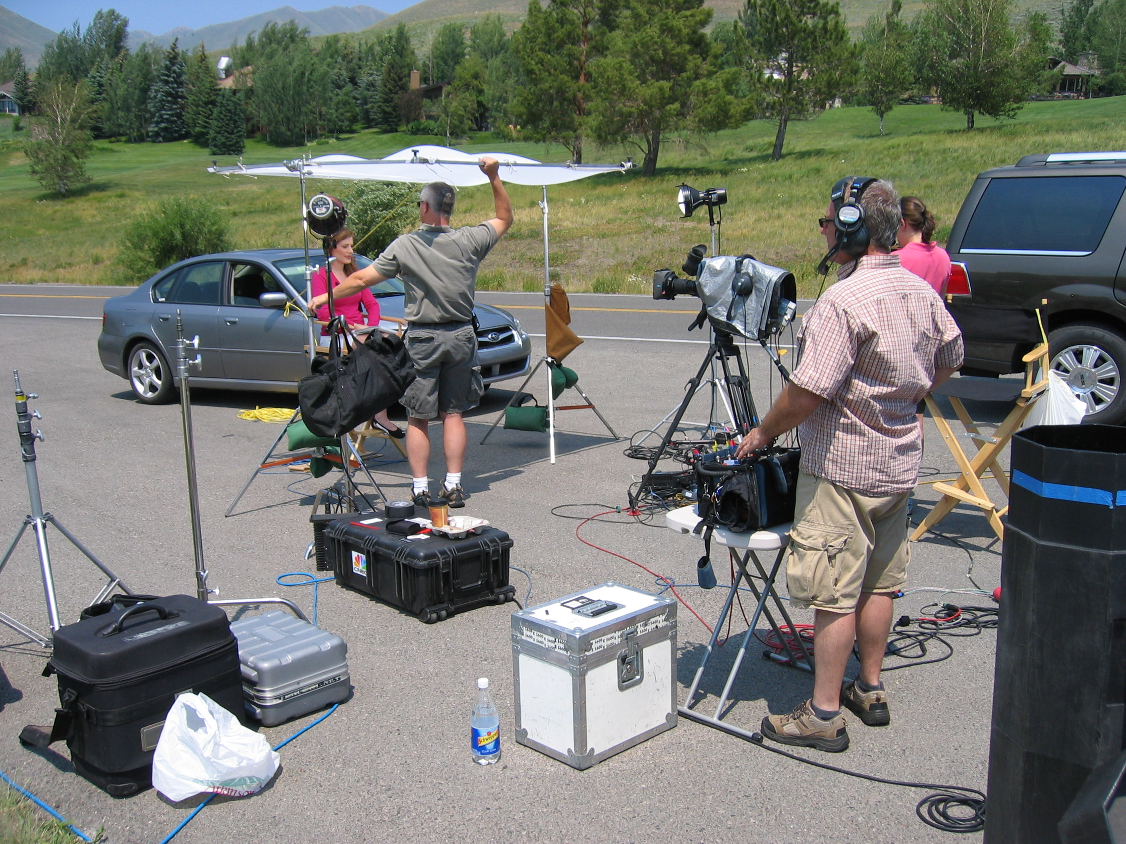 CNBC Live Shot at Sun Valley for the Economic Summit.