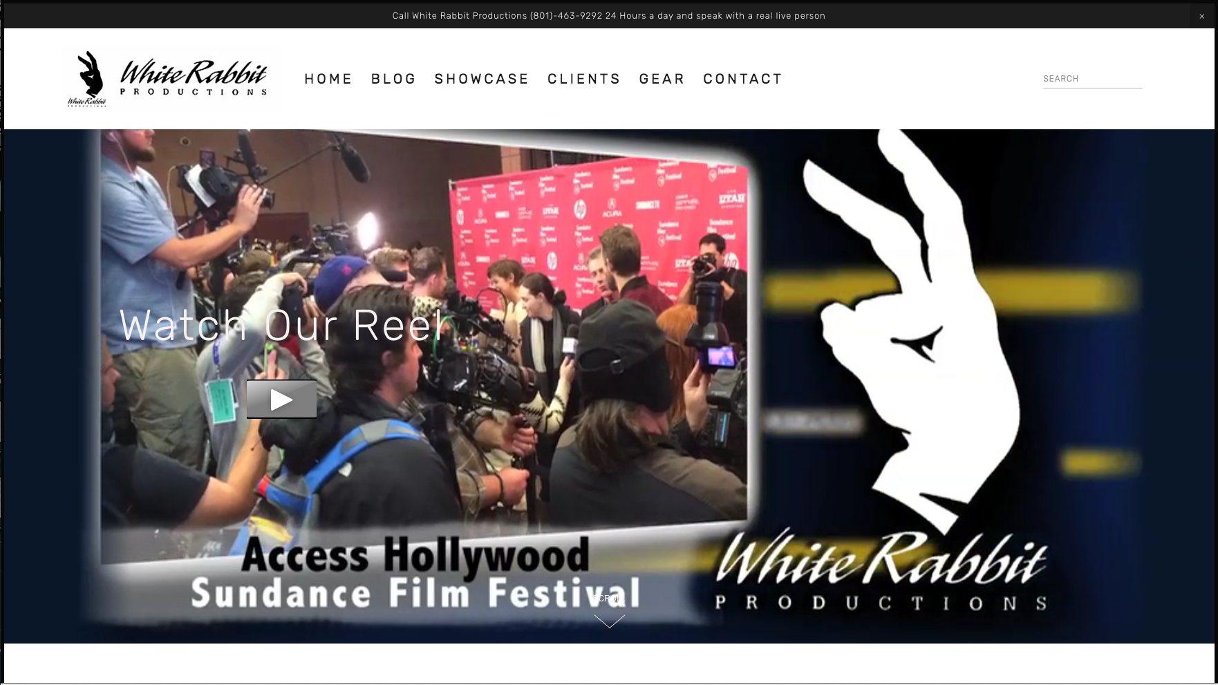 White Rabbit Productions Website Re-Lauch