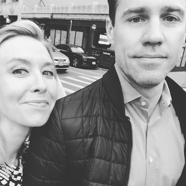 Saturday night on the town with this guy. 💃🏼💋 #nyc