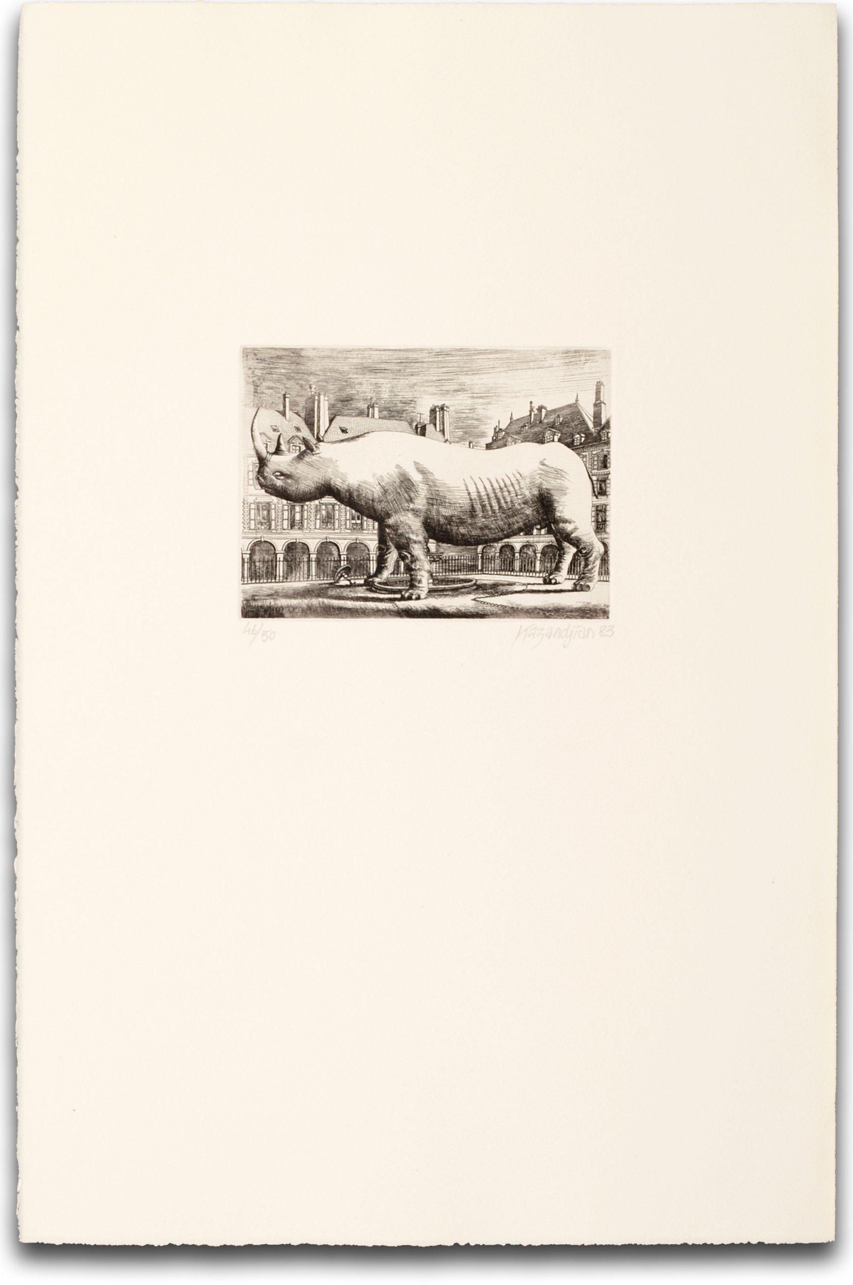 Le Rhinocéros de la place des Vosges