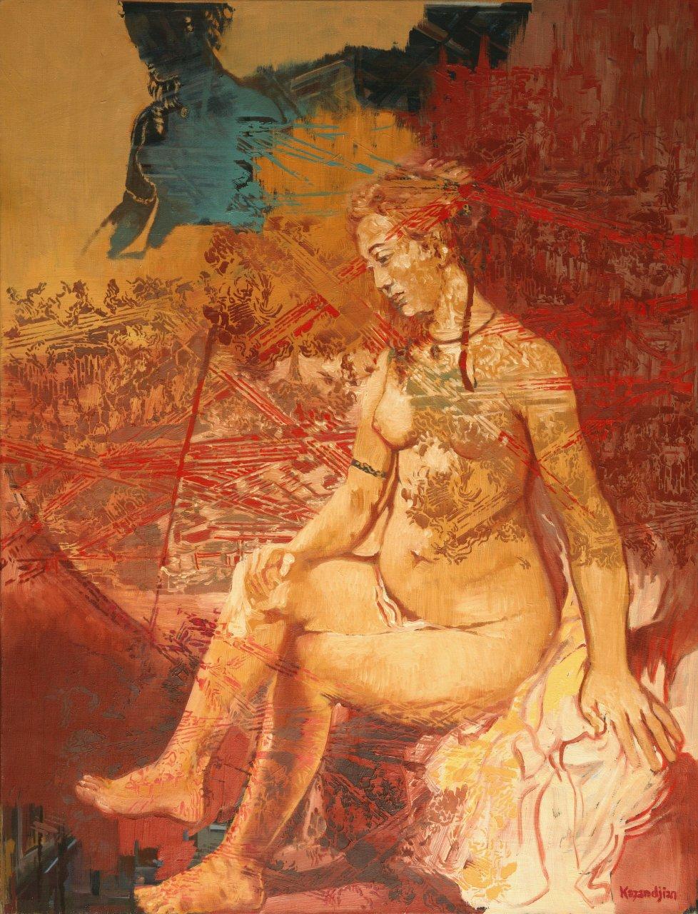 Bathsheba at Her Bath - after Rembrandt