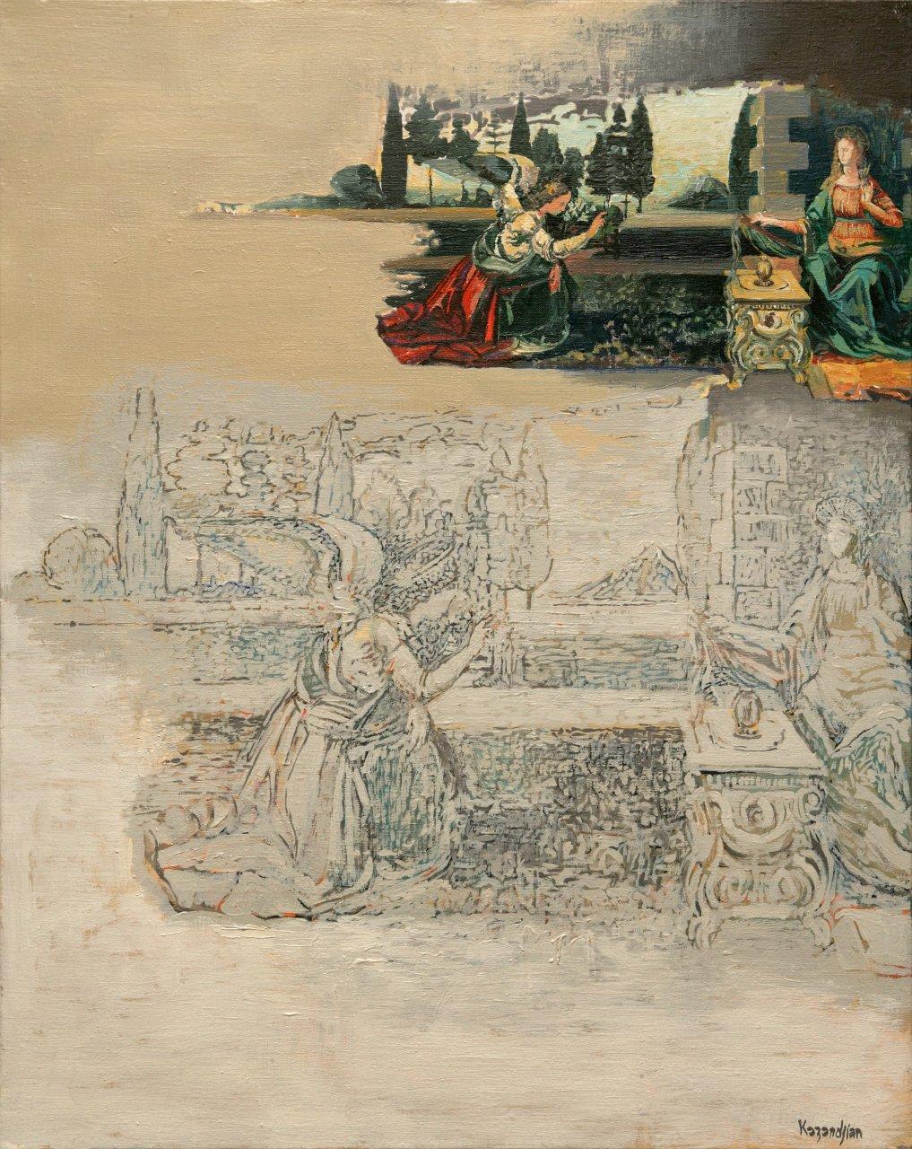 The Annunciation - Autre Concept d'après Léonard de Vinci