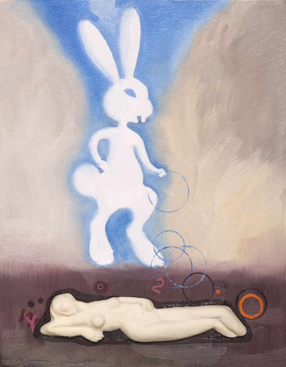 RABBIT WITH HOOPS