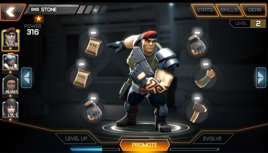 Major Stone is ready for promotion!