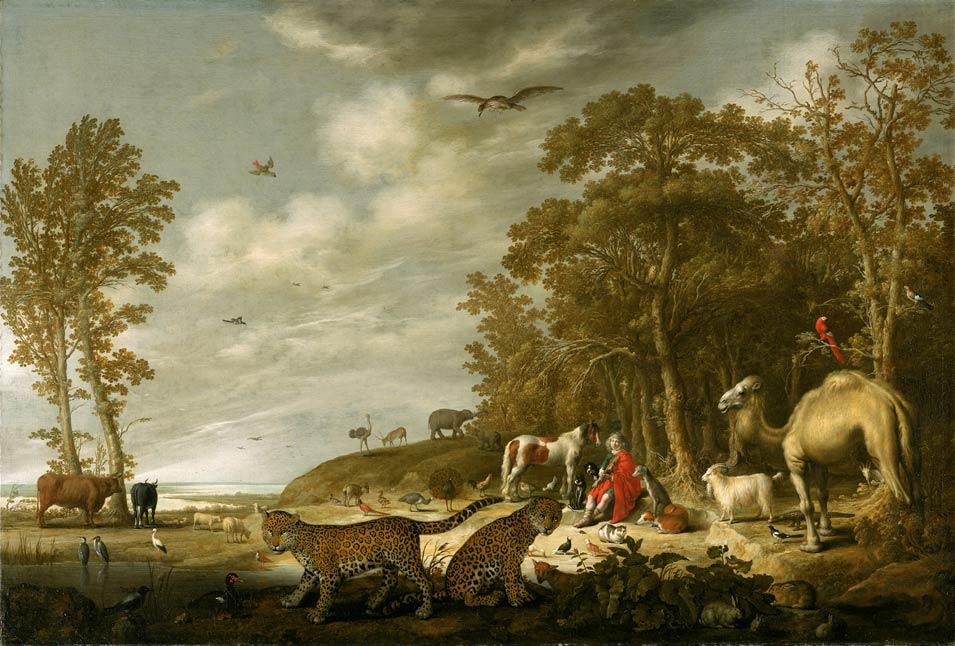 Orpheus with Animals in a Landscape, Aelbery Cuyp, XVII Century