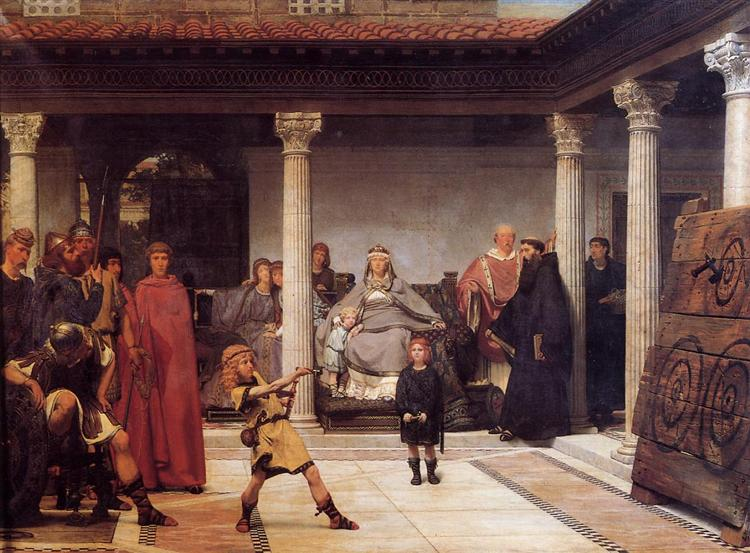 The Education of the Children of Clovis,  Sir Lawrence Alma-Tadema 1861