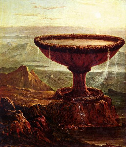 The Titan's Goblet, Thomas Cole 1833